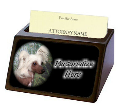Chinese Crested   ( 2 )   Pet Breed  Personalized Business Card Holder