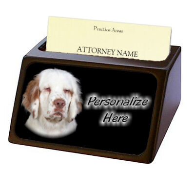 Clumber Spaniel  ( 1 )   Pet Breed  Personalized Business Card Holder