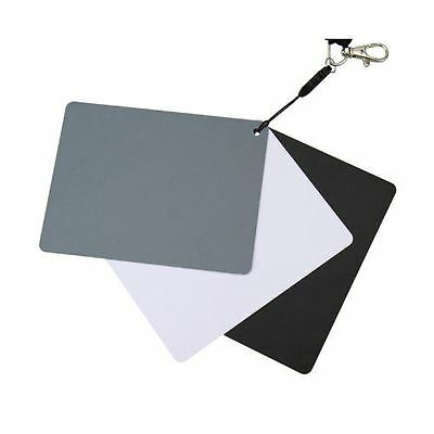 JJC Medium Size 3-in-1 White Balance and Grey Cards Gray/White/Black(Pack of 3)