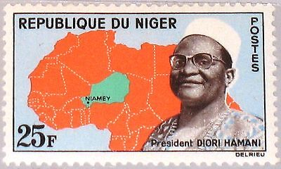 NIGER 1962 29 113 President Diori Hamani Map Karte 4th Independence Ann MNH