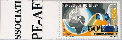 NIGER 1967 167 202 EUROPAFRIQUE Economic Cooperation Map Europe & Africa MNH