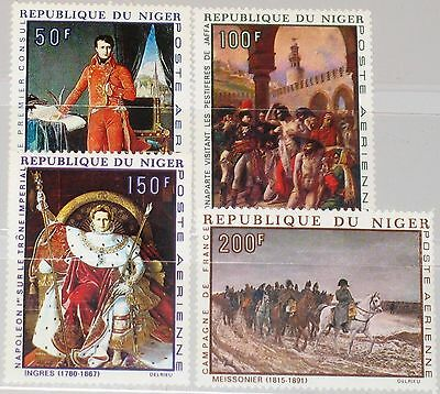 NIGER 1969 206-09 C100-03 Napoleon Bonaparte 200th Birthday Paintings Art MNH