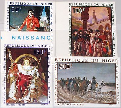 NIGER 1969 206-09 U C100-03 Napoleon Bonaparte 200th Birthday Paintings Art MNH
