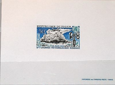 NIGER 1969 211 C105 DELUXE 9th World Meteorological Day WMO Wetter Flugzeug MNH
