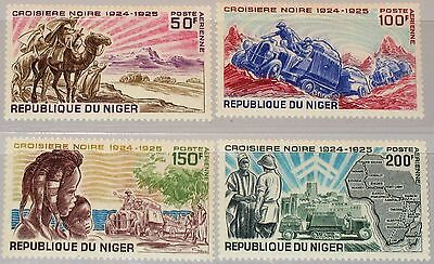 NIGER 1969 229-32 C115-18 Black Tour across Africa Expedition Camels Cars Map **