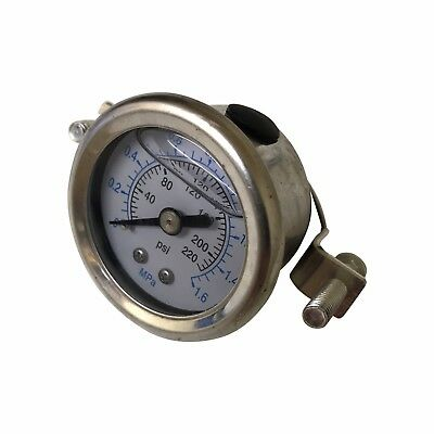 "Pressure Gauge for Reverse Osmosis RO Unit / HMA Filter Aquarium with 1/4"" Pipe • EUR 8,20"