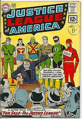 Justice League of America 8 DC Silver Age 1961 For Sale The JLA 1st 12 Cnt Issue