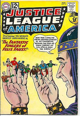 Justice League of America 10 DC Silver Age 1962 Origin and 1st app Felix Faust