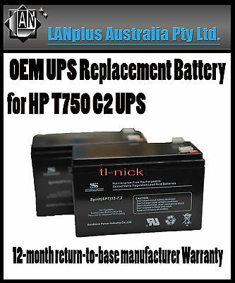 New OEM Replacement Battery Pack for HP T750 G1 G2 G4 INTL Tower UPS Warranty