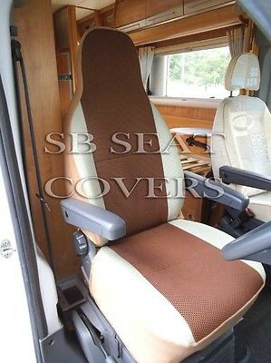 Fiat Ducato Motorhome Seat Covers Mh 405 Brown Sports Mesh