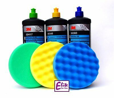 3M Perfect-it III Triple Polishing & Compounding Set & 150mm Machine Pads