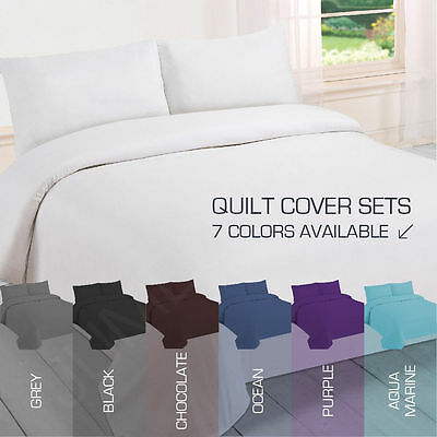NEW Single/King Single/Double/Queen/King Size Bed Quilt/Duvet Cover Set