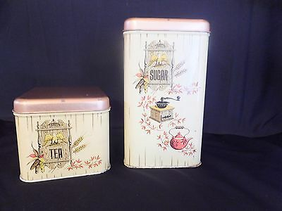 RETRO Vintage Cheinco Canisters Tin Metal 1776 Provincial Colonial Eagle
