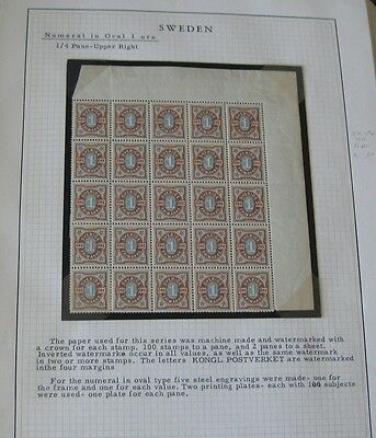 SWEDEN - Extensive OSCAR and NUMERAL Collection of stamps and covers