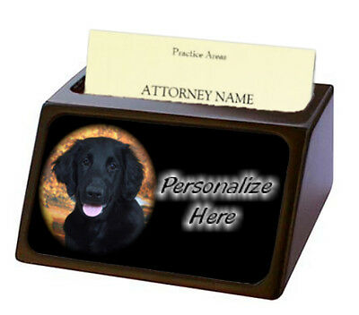 Flat-Coated Retriever   Pet Breed  Personalized Business Card Holder