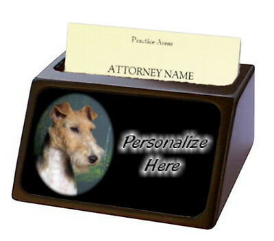 Fox Terrier Wire   Pet Breed  Personalized Business Card Holder