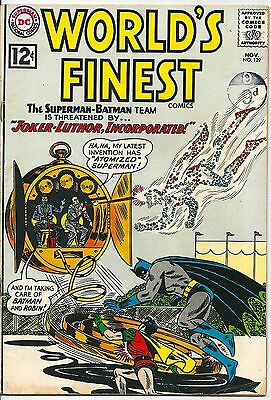 World's Finest Comics 129 DC Silver Age 1962 The Joker and Lex Luther Scarce