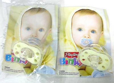 Lot Of 2 Playtex Binky Pacifier Like Mother Nipple Silicone Flexible Shield A-8