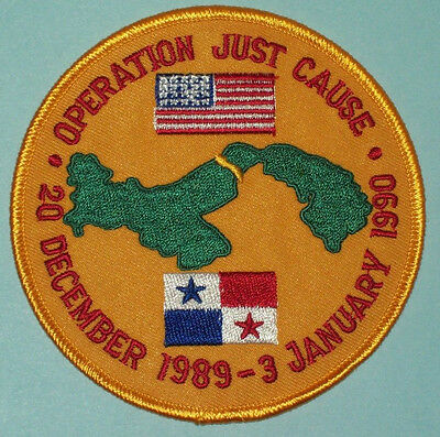 Operation JUST CAUSE US Invasion of Panama Military Patch 1989 - 1990
