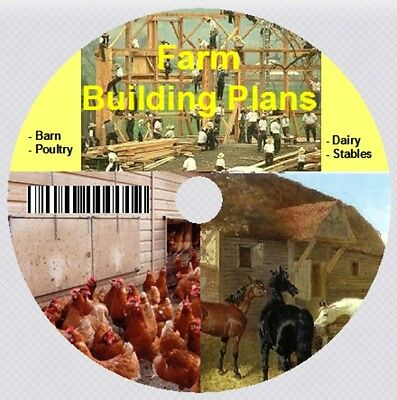 Poultry Farm - Barn & Stables – Dairy Building Plans on CD