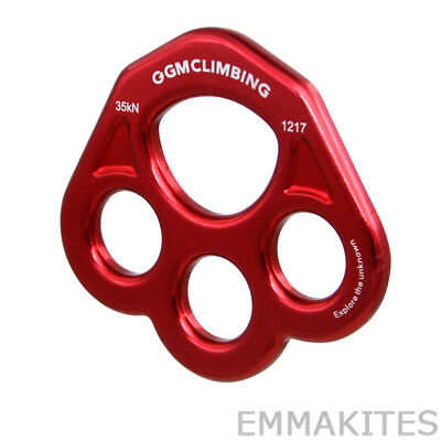 30kN Bear Paw Rigging Plate Multi Anchor Device For Rescue Climbing Aerial Dance
