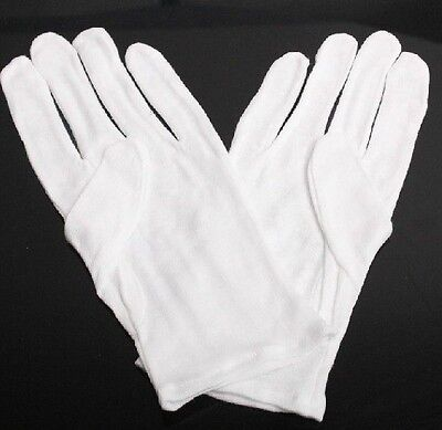10 PCS White Cotton Gloves for Housework Workers With Knits