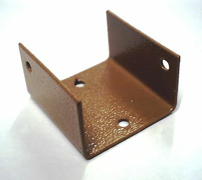 Two Fence panel clips 44 mm panel to post u bracket
