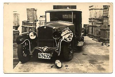 Carte Photo.automobile Ancienne.motor-Car.voiture.accident.