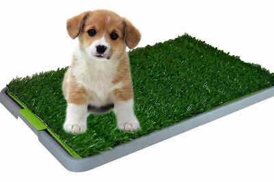 68cm Portable Indoor Pet Dog Toilet Training Grass Puppy Potty Pad Loo Tray