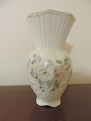 "MARYLEIGH POTTERY STAFFORDSHIRE VASE BLOSSOM TIME 8.75"" (22 CM)"