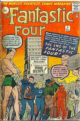 Fantastic Four 9 Marvel Silver Age 1962 The Sub-Mariner