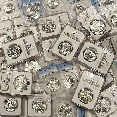 Massive Storage Estate Find PCGS NGC Graded 4 Coins Per Lot Includes Silver