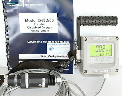 ATI Q45D Portable Dissolved Oxygen Meter Monitor Measurement O2 Sensor