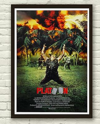 Classic Platoon Vietnam War Movie Film Poster Print Picture A3 A4