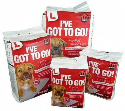 Mikki I've Got To Go Pup-Pee Wee Pads Puppy Toilet Training Pads 50 pack