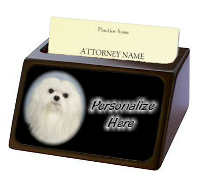 Maltese   ( 2 )   Pet Breed  Personalized Business Card Holder