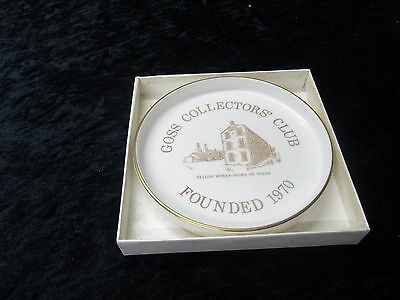 China - Goss Collectors Dish Issued To Commemorate it's foundation. Still in box