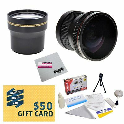 3.7x Telephoto & 0.20x Fisheye Bundle for Kodak Easyshare Z740 Z710 Z650 ZD710