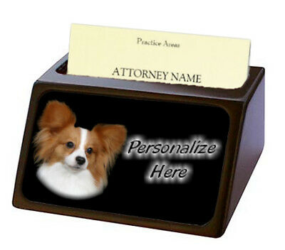 Papillon  ( 3 )  Pet Breed  Personalized Business Card Holder