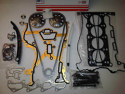 VAUXHALL CORSA C 1.2 SXi Z12XE HEAD GASKET SET + HEAD BOLTS + TIMING CHAIN KIT