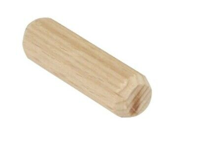 25 x Wooden Dowels Ø 10mm - 40mm Pins Plugs Fluted Hardwood BEECH M10 Untreated