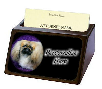 Pekingese  ( 2 )  Pet Breed  Personalized Business Card Holder