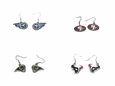 NFL OFFICIAL LICENSED dangle earrings All Teams 61441