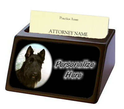 Scottish Terrier  Pet Breed  Personalized Business Card Holder