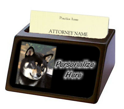 Shiba Inu   ( tri )  Pet Breed  Personalized Business Card Holder