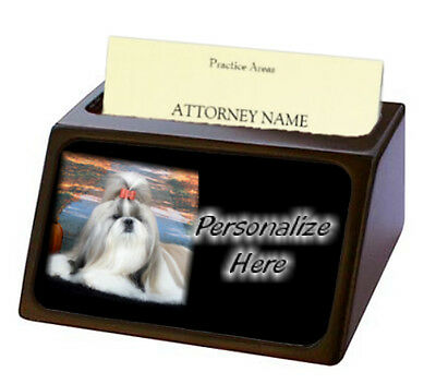 Shih Tzu  ( 2 )  Pet Breed  Personalized Business Card Holder
