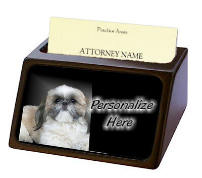 Shih Tzu  ( 9 )  Pet Breed  Personalized Business Card Holder