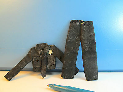 Miniature Dusty & Muddy Transit police Uniform : Dollhouse E1443