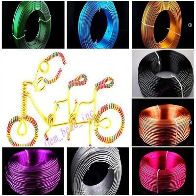 1 & 1.5 & 2mm Aluminum Wire Jewelry Making Craft Wraps 2 Meter 15 Color Discount