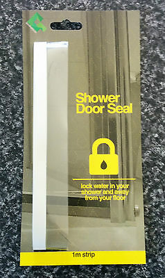 SHOWER SCREEN DOOR PLASTIC SEAL - Stop water splashing out of your shower, bath